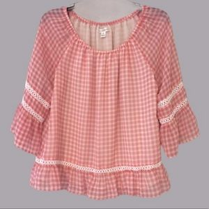 John Paul Richard Gingham Blouse